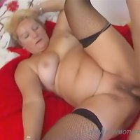 Hot mom lets her son fuck her