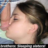 Horny brother and his pretty sister enjoy having real incest sex